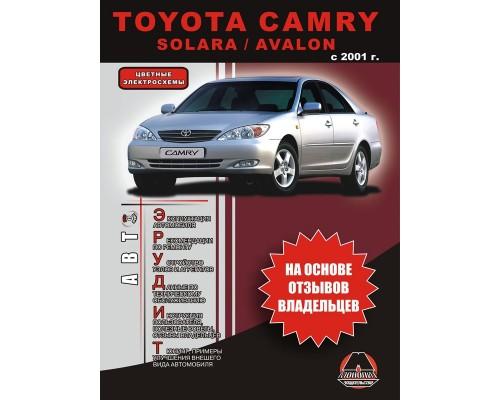 Книга: Toyota Camry / Solara / Avalon (Тойота Камри / Солара / Авалон). Инструкция по эксплуатации, справочные материалы по ремонту и технические характеристики. Модели с 2001 года выпуска, оборудованные бензиновыми двигателями